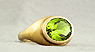 750 Yellow gold, peridot