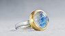 Moonstone, 18ct Gold, 925 Silver